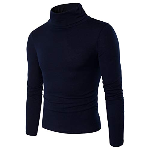 ANYIKE 1 Pc Mannen Casual Basic Top Coltrui Slim Fit Zachte katoenen trui Thermal Sweater T-Shirt